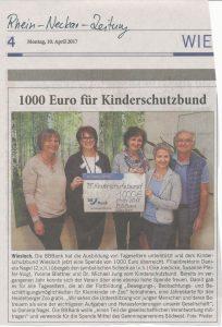 Spende BBBank an Kinderschutzbund Wiesloch